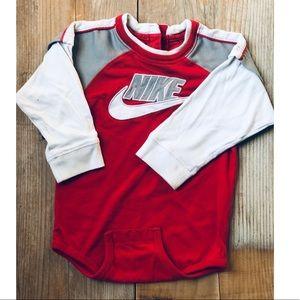 Boy Nike Long Sleeve Onesie!